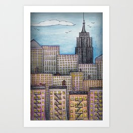 NYC Looking Uptown Art Print