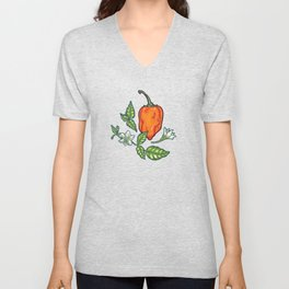 hot habanero Unisex V-Neck