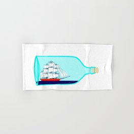 A Ship in a Bottle Hand & Bath Towel