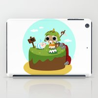 monster hunter iPad Cases featuring Monster Hunter - Felyne and Poogie by tcbunny