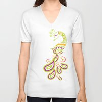 india V-neck T-shirts featuring India by ASerpico Designs