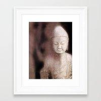 buddah Framed Art Prints featuring Buddah 1 by Linda K. Photography & Design