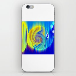 Colorful Abstract Fish Art iPhone Skin