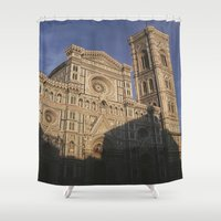 florence Shower Curtains featuring Florence Italy  by Siobhan N Malone