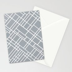 Map Outline Grey 45  Stationery Cards