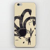 hydra iPhone & iPod Skins featuring hydra(dark) by Louis Roskosch