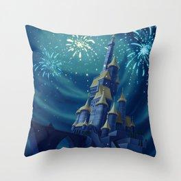 Portrait of a Kingdom: Beast's Castle  Throw Pillow
