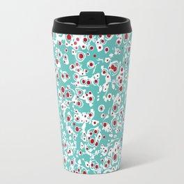 red wild dots Travel Mug