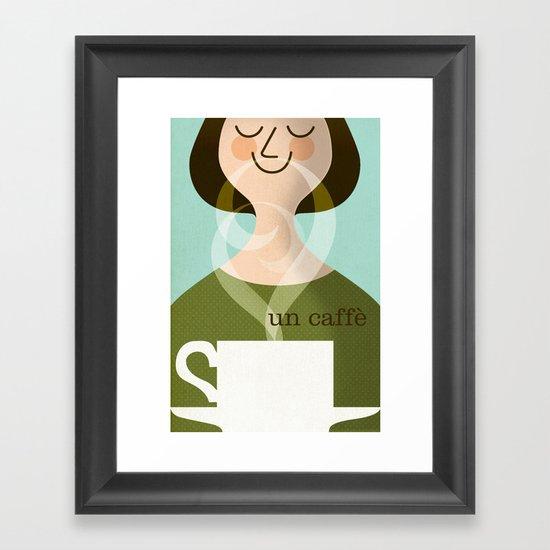 Un Caffe Framed Art Print
