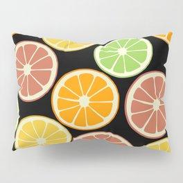 Citrus Fruit Slices, Oranges, Limes, Lemons Pillow Sham