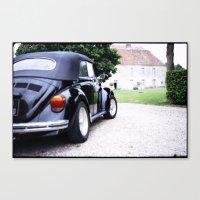 volkswagon Canvas Prints featuring Vintage Volkswagon Beetle by istillshootfilm