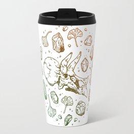 Triceratops Rocks!   Leaf Green & Pumpkin Spice Ombré Travel Mug