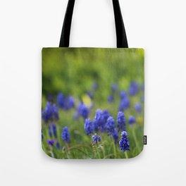 Grape Hyacinth in Spring Tote Bag