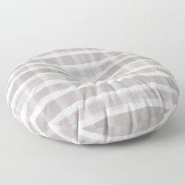 Slate Violet Gray SW9155 Watercolor Brushstroke Plaid Pattern on White Floor Pillow