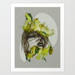 Zoe by carographic, Carolyn Mielke Art Print