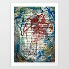 Vesalius Grave digger Art Print