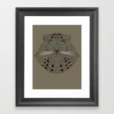 Panthera Linear Framed Art Print