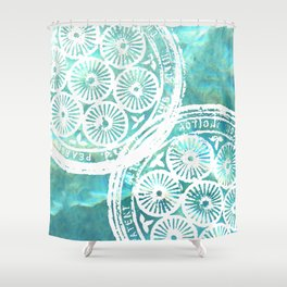 swimmingly Shower Curtain