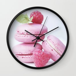 macarons and raspberries #society6 #buyart #decor Wall Clock