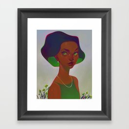 neon - emerald Framed Art Print