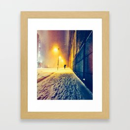 Snowstorm Perspective Framed Art Print