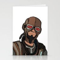 borderlands Stationery Cards featuring borderlands mordecai by  Steve Wade ( Swade)