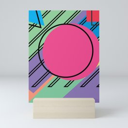 90s Retro Colored Shapes v4 Mini Art Print