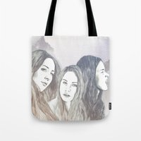 haim Tote Bags featuring Haim by Jessica Feral