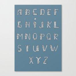 Elefont alphabet Canvas Print