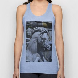 Horses Of Neptunes Fountain , Florence Italy Unisex Tank Top