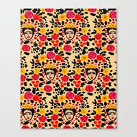 frida Canvas Prints featuring Frida by Bouffants and Broken Hearts