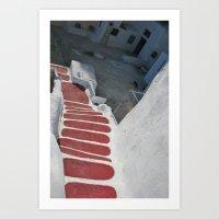 Greek Steps Art Print