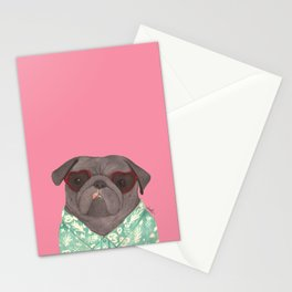Hawaiian Pug Stationery Cards