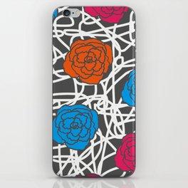 MULTI ROSE SQUIGGLE iPhone Skin
