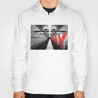subway Hoodies featuring LA subway by Vin Zzep
