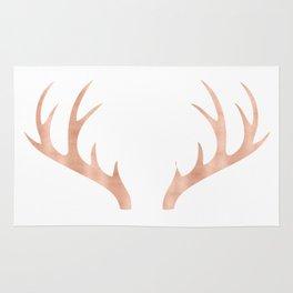 Antlers Rose Gold Deer Antlers Rug