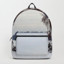Weeping Willow on the Frozen Lake Backpack