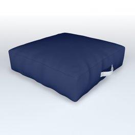 Solid Navy blue Outdoor Floor Cushion