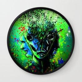 Split-face Green Wall Clock