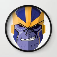 thanos Wall Clocks featuring Thanos by Micah Lanier