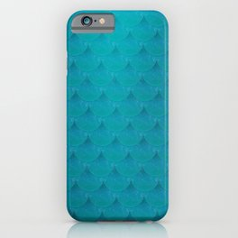 Mermaid Scale Aqua Blue Sea Ocean Pattern iPhone Case