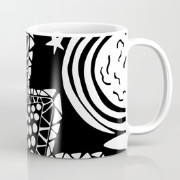 Soul Of The Dream Desert - Star Gazer (Black and White Edition) Coffee Mug