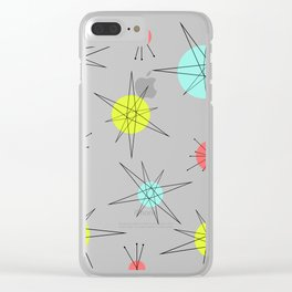 Atomic Age Colorful Planets Clear iPhone Case