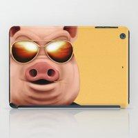 pigs iPad Cases featuring PIGS by Brandon Juarez