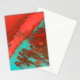 LAVA   Fluid acrylic art by Natalie Burnett Art Stationery Cards