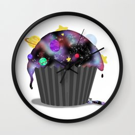 Galaxy Cupcake Wall Clock