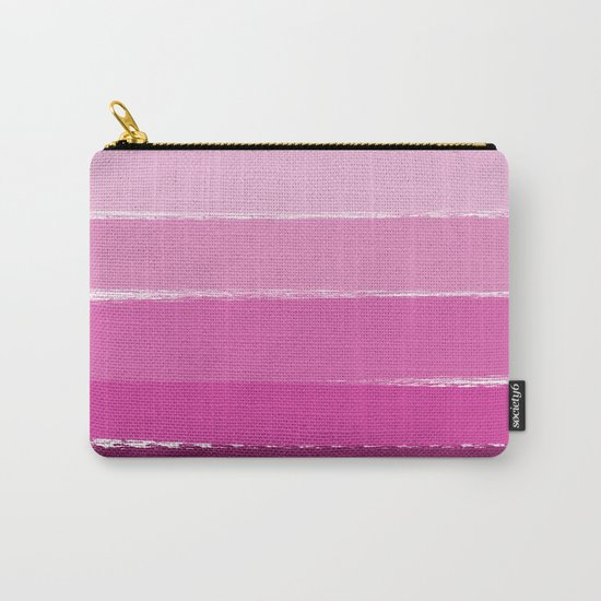 Ombre pink gradient color pantone trendy beach summer happy face Carry-All Pouch