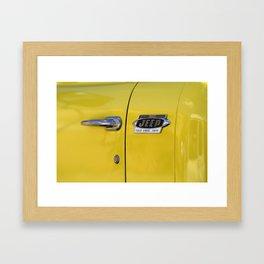 Yellow Jeep  Framed Art Print