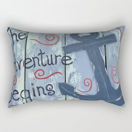 The Adventure Begins Rectangular Pillow