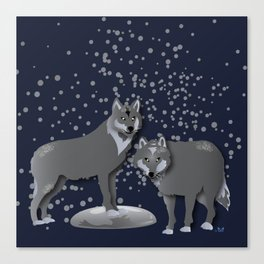 Wolves - 'A Fantastic Journey' Canvas Print